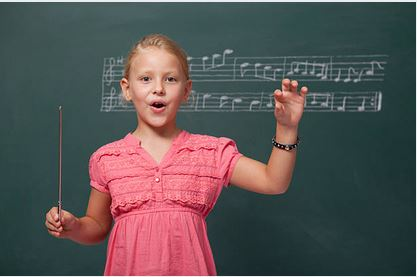 Girl Learning Vocal Lessons
